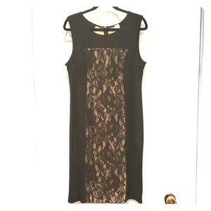 Lace Accent Shift Dress